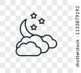 cloudy vector icon isolated on... | Shutterstock .eps vector #1133879192