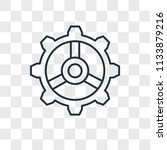 settings vector icon isolated... | Shutterstock .eps vector #1133879216