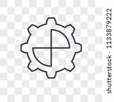 settings vector icon isolated... | Shutterstock .eps vector #1133879222
