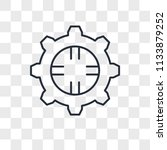 settings vector icon isolated... | Shutterstock .eps vector #1133879252