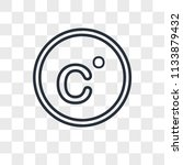 celsius vector icon isolated on ... | Shutterstock .eps vector #1133879432