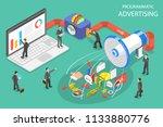 flat isometric vector concept... | Shutterstock .eps vector #1133880776