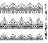 set of seamless borders for... | Shutterstock .eps vector #1133888945
