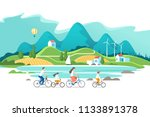 summer vacation. family are... | Shutterstock .eps vector #1133891378
