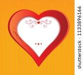 heart for valentines day.... | Shutterstock .eps vector #1133896166