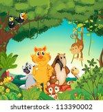 illustration of a forest scene... | Shutterstock . vector #113390002