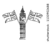 big ben tower british landmark... | Shutterstock .eps vector #1133902688