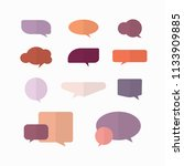 speech bubble flat design...   Shutterstock .eps vector #1133909885