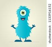 cool  fun  cute blue creature   ...   Shutterstock .eps vector #1133916152