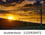 railroad infrastructure during... | Shutterstock . vector #1133920472