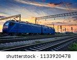 railroad infrastructure during... | Shutterstock . vector #1133920478