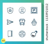 modern  simple vector icon set... | Shutterstock .eps vector #1133921012