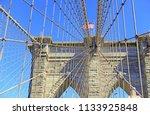closeup of brooklyn bridge and... | Shutterstock . vector #1133925848