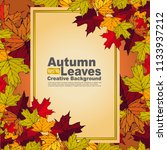 autumn leaves creative... | Shutterstock .eps vector #1133937212