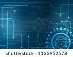 digital abstract technology... | Shutterstock . vector #1133952578