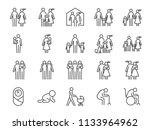 family icon set. included icons ... | Shutterstock .eps vector #1133964962