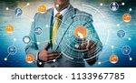 unrecognizable industrial... | Shutterstock . vector #1133967785