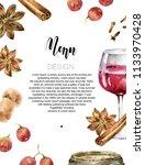 design menu or wine list.... | Shutterstock . vector #1133970428
