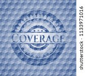 coverage blue emblem with... | Shutterstock .eps vector #1133971016