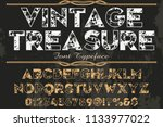 classic vintage decorative font ... | Shutterstock .eps vector #1133977022