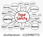 food safety mind map flowchart  ... | Shutterstock .eps vector #1133980772