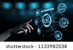 automation software technology... | Shutterstock . vector #1133982038
