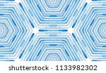 blue geometric watercolor.... | Shutterstock . vector #1133982302