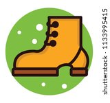 an ankle footwear with small... | Shutterstock .eps vector #1133995415