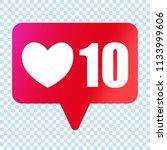 social media like heart icon.... | Shutterstock .eps vector #1133999606