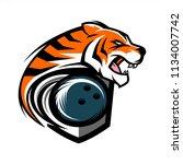 tiger bowling team logo   Shutterstock .eps vector #1134007742