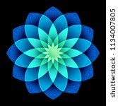 3d round geometric design | Shutterstock . vector #1134007805