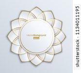 3d round geometric banner | Shutterstock .eps vector #1134011195