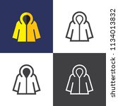raincoat icons 2o18 | Shutterstock .eps vector #1134013832