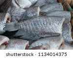 dried trichogaster pectoralis  | Shutterstock . vector #1134014375