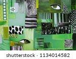 creative art mood board....   Shutterstock . vector #1134014582
