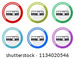 bus web vector icons  set of... | Shutterstock .eps vector #1134020546