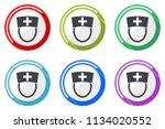nurse web vector icons  set of... | Shutterstock .eps vector #1134020552