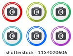 financial web vector icons  set ... | Shutterstock .eps vector #1134020606