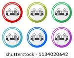 tram web vector icons  set of... | Shutterstock .eps vector #1134020642