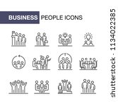 teamwork business people icon...