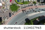 aerial photo of busy streets... | Shutterstock . vector #1134027965