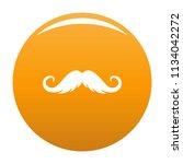fluffy mustache icon. simple... | Shutterstock .eps vector #1134042272