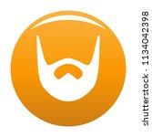 neat beard icon. simple... | Shutterstock .eps vector #1134042398