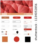 light orange vector web ui kit...