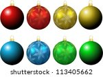 collection of christmas baubles | Shutterstock .eps vector #113405662