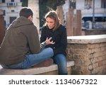 rome italy   10 09 2011  girl... | Shutterstock . vector #1134067322