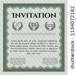 green invitation. detailed....   Shutterstock .eps vector #1134072182