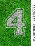 white line number on green...   Shutterstock . vector #113407732