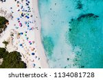 aerial view of an emerald and... | Shutterstock . vector #1134081728