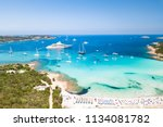 aerial view of an emerald and... | Shutterstock . vector #1134081782